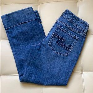 White House Black Market cropped jeans